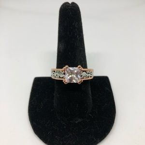 Rose gold costume ring